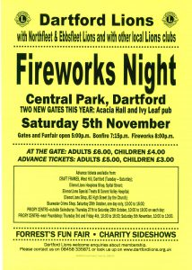 Dartford Fireworks Night 2016