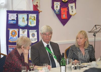 Top table guests