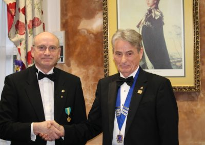 Lions Graham and Lion President Milne