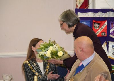Flowers to the Mayoress
